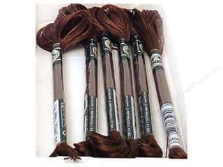 yarn & needlework: DMC Satin Embroidery Floss #S898 Shadow Brown (6 skeins)
