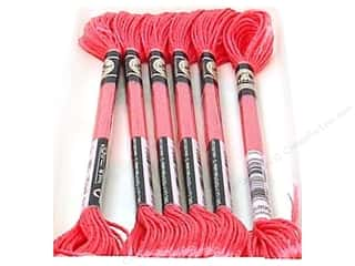 yarn: DMC Satin Embroidery Floss #S899 Rose (6 skeins)