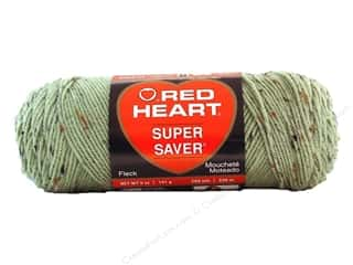Red Heart Super Saver Yarn #4361 Frosty Green Fleck 260 yd.