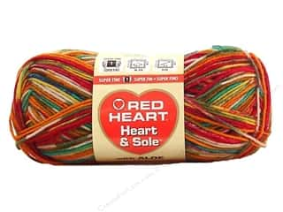 Clearance Red Heart Pomp A Doodle Yarn: Red Heart Heart & Sole Yarn #3965 Razzle Dazzle 213 yd.