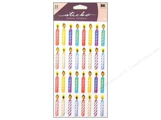 scrapbooking & paper crafts: EK Sticko Stickers Birthday Candles