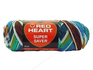 Red Heart Super Saver Yarn #0946 Peruvan Print 244 yd.