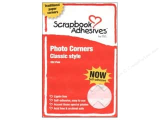 photo corner: 3L Scrapbook Adhesives Photo Corners Paper 252 pc. Pink
