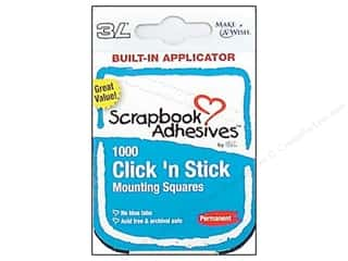 3L Scrapbook Adhesives Click 'n Stick Mounting Squares 1000 pc.
