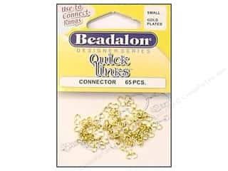 beading & jewelry making supplies: Beadalon Quick Links Connectors Small Gold 65 pc.