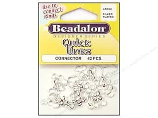 beadalon pliers: Beadalon Quick Links Connectors Large Silver 42 pc.