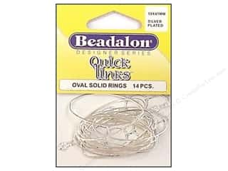 beading & jewelry making supplies: Beadalon Quick Links Oval 19 x 41 mm Silver Plated 14 pc.