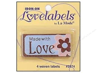 Blumenthal Quilting: Blumenthal Iron-On Lovelabels 4 pc. Made With Love with Flower
