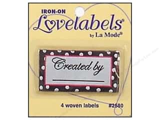 Blumenthal Quilting: Blumenthal Iron-On Lovelabels 4 pc. Created By