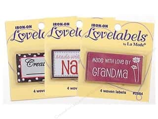 Sale: Blumenthal Iron-On Lovelabels 4 pc, SALE $1.59.