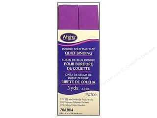 sewing & quilting: Wrights Double Fold Quilt Binding 3 yd. Purple