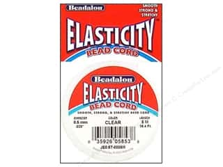 beaded elastic: Beadalon Elasticity Bead Cord 0.5 mm Clear 16.4 ft.