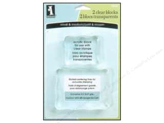 stamp: Inkadinkado Clear Stamp Block Small & Medium