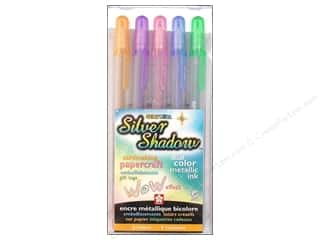 scrapbooking & paper crafts: Sakura Gelly Roll Pen Silver Shadow Set Assorted Color 5 pc.
