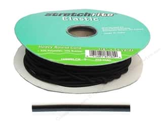 Stretchrite Elastic Cord Round 1/8 in. x 24 yd Black (24 yards)