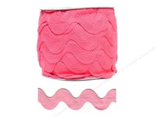 Jumbo Ric Rac by Cheep Trims  1 13/32 in. Bright Pink