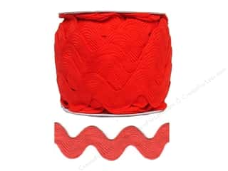 Cheep Trims Jumbo Ric Rac 1 13/32 in. Red (24 yards)