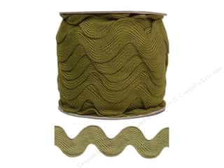 Cheep Trims Ric Rac jumbo: Jumbo Ric Rac by Cheep Trims  1 13/32 in. Olive (24 yards)
