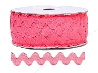"Cheep Trims Ric Rac 1/2"": Ric Rac by Cheep Trims  11/16 in. Bright Pink (24 yards)"