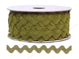 sewing & quilting: Ric Rac by Cheep Trims  11/16 in. Olive (24 yards)