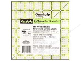 quilt rectangular square ruler: Omnigrid Omnigrip Non-slip Ruler 6 1/2 x 6 1/2 in.