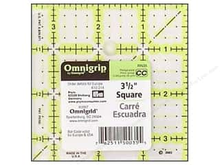 quilt rectangular square ruler: Omnigrid Omnigrip Non-slip Ruler 3 1/2 x 3 1/2 in.