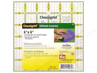 ruler: Omnigrid Ruler 6 x 6 in.