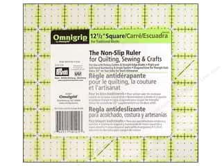 quilt rectangular square ruler: Omnigrid Omnigrip Non-slip Ruler 12 1/2 x 12 1/2 in.