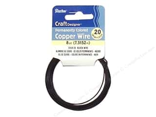 32 ga wire: Darice Copper Craft Wire 20 ga. 8 yd. Black