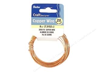 craft wire: Darice Copper Craft Wire 20 ga. 8 yd. Copper