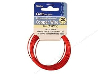 craft wire: Darice Copper Craft Wire 20 ga. 8 yd. Red