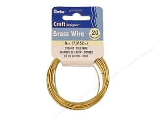 scrapbooking & paper crafts: Darice Copper Craft Wire 20 ga. 8 yd. Gold