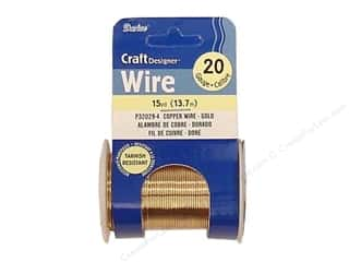craft wire: Darice Copper Craft Wire 20 ga. 15 yd. Gold