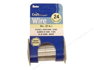 24 ga wire: Darice Copper Craft Wire 24 ga. 30 yd. Silver
