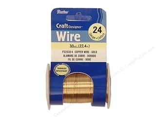 24 ga wire: Darice Copper Craft Wire 24 ga. 30 yd. Gold