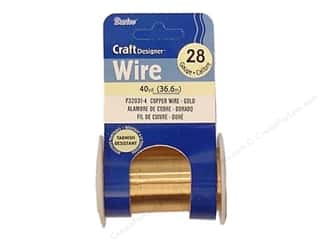 craft wire: Darice Copper Craft Wire 28 ga. 40 yd. Gold