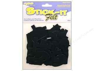 CPE: CPE Stick-It Felt Letters & Numbers 2 in. Black