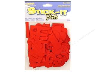 CPE: CPE Stick-It Felt Letters & Numbers 2 in. Red