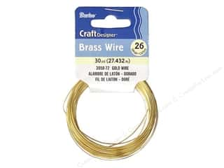 26 ga wire: Darice Copper Craft Wire 26 ga. 30 yd. Gold