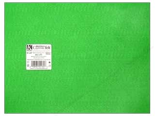 craft & hobbies: Kunin Felt 9 x 12 in. Apple Green (24 sheets)