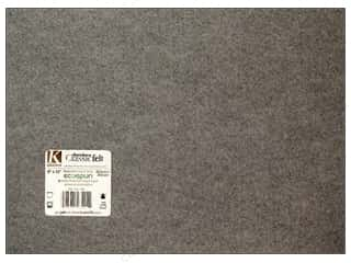 craft & hobbies: Kunin Felt 9 x 12 in. Smoke (24 sheets)