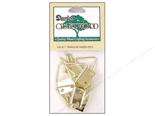 craft & hobbies: Darice Triangle Hanger 1 in. Brass 6 set