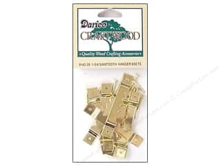 craft & hobbies: Darice Sawtooth Hangers 1 5/8 in. Brass 8 pc.