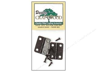 craft & hobbies: Darice Hinges 1 in. Black 2 pc.