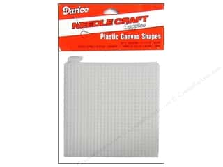 Darice Plastic Canvas #7 circle: Darice Plastic Canvas #7 Mesh 4 x 4 in. Clear Square