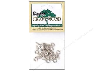 craft & hobbies: Darice Screw Eye Hooks 3/16 x 1/2 in. Nickel 20 pc.