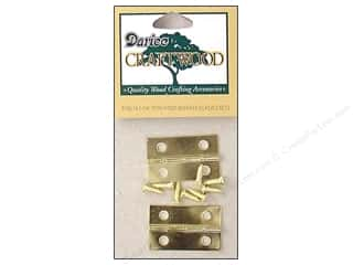 craft & hobbies: Darice Hinges 1 1/4 in. Brass 2 pc.