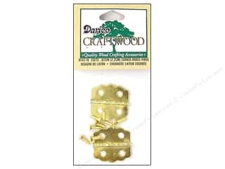 craft & hobbies: Darice Hinges 7/8 in. Curved Brass 2 pc.