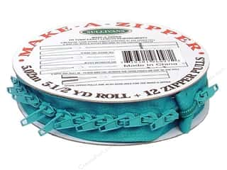 projects & kits: Sullivans Make-A-Zipper Kit 5 1/2 yd. Turquoise