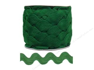 Cheep Trims Jumbo Ric Rac 1 13/32 in. Emerald (24 yards)